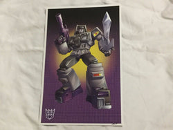 G1 Transformers Decepticon Motormaster Stunticons Poster 11x17 Box Art Grid