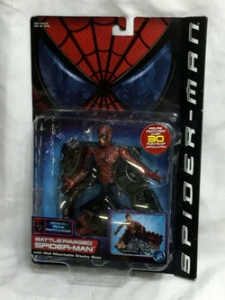 2001 Toybiz Marvel Legends SpiderMan Movie Peter Parker Battle Ravaged MOC NEW
