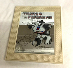 G1 Transformers Autobot Jazz 1984 Vintag Friendly Reflections Framed Mirror