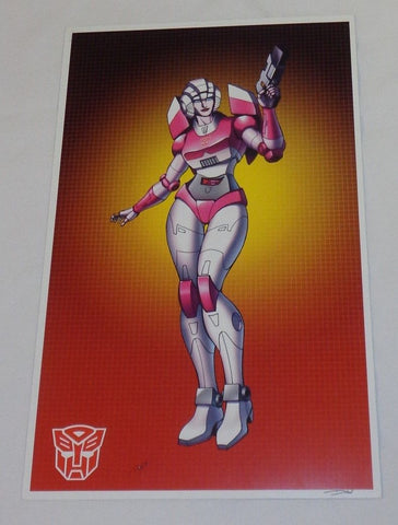 1986 G1 Transformers Female Autobot Arcee Poster 11x17 Box Art Grid FREESHIPPI