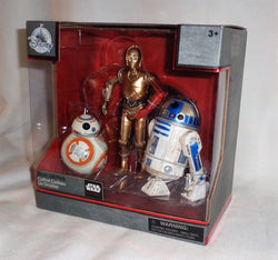 Disney Star Wars Elite Series Diecast 40th Anniversary R2D2 BB8 C3PO Droid Set