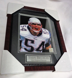 New England Patriots Tedy Bruschi Yelling Game Matted Framed Picture 13x16