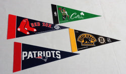 Boston Red Sox Bruins Celtics New England Patriots Mini Pennant Lot Set of 4