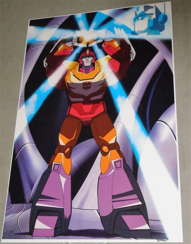1986 G1 Transformers Hot Rod Arise Rodimus Prime Matrix Poster 11x17 FREESHP