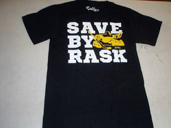"Boston Bruins Themed "" Save by Rask "" Tuukka Goalie T Shirt Size Medium FREESHIP"
