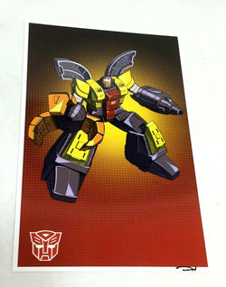 G1 Transformers Autobot Omega Supreme Picture Poster 11x17 Box Art Grid FREESHIP
