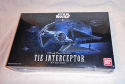 NEW Bandai Star Wars ROTJ Tie Interceptor Plastic Model Kit Box Set 1/72 Scale