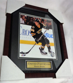 Boston Bruins David Pastrnak Black Jersey Matted Framed Picture 13x16 FREESHIP