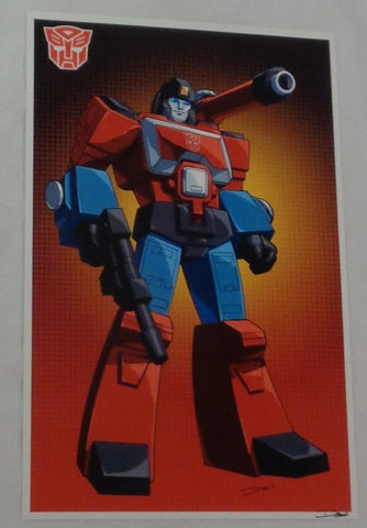G1 Transformers Autobot Preceptor Poster 11x17 Box Art Grid FREESHIPPING