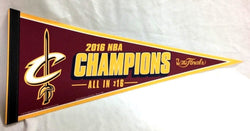 2016 NBA Finals World Champions Cleveland Cavaliers Pennant FREESHIP