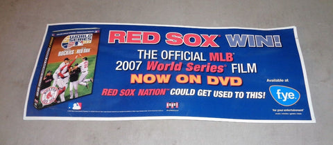 2007 World Series Champions Red Sox DVD Subway Train Display Poster Picture