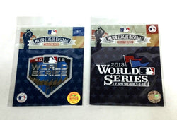 Official 2018 World Series / 2013 World Series Jersey Patch Lot Boston Red Sox