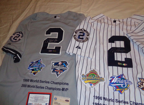 size 40 b8955 8be1c Yankees Derek Jeter Signed Autographed 5x World Series ...