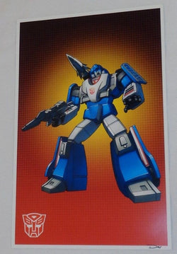G1 Transformers Autobot Mirage Poster 11x17 Box Art Grid FREESHIPPING