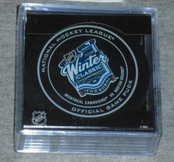 2016 Winter Classic Official Game Puck Foxboro Gillette Stadium Bruins Canadiens