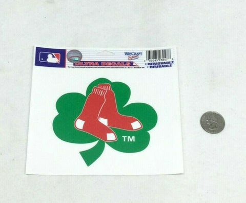 Boston Red Sox Hanging Socks Irish Shamrock Static Cling Window Decal 4x6 Size