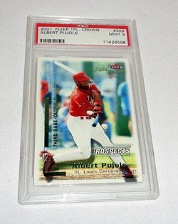 Albert Pujols 2001 Fleer Triple Crown RC #309 Rookie PSA 9 Mint #1187 FREESHIP