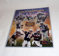 New England Patriot SuperBowl 38 World Champions Picture Photo 8x10 Collage