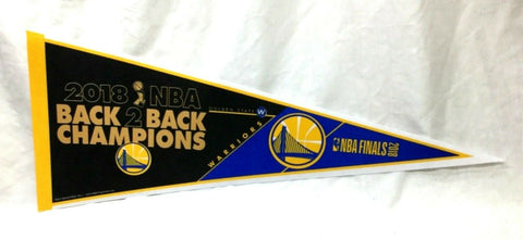 2018 NBA Finals World Champions Golden State Warriors Pennant Back to Back