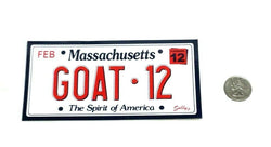 Patriots GOAT Greatest of All Time Tom Brady Bumper Sticker License Plate Style
