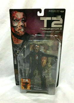 2001 Mcfarlane Terminator 2 Judgment Day T-800 Figure Movie Maniacs NEW Sealed