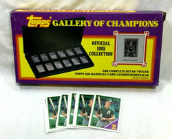 1988 Topps Gallery of Champions Set Aluminum Replicas + 10 McGwire Card Lot
