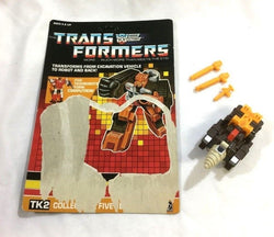 1987 G1 Transformers Technobots Computron Nosecone Figure Complete Cardback