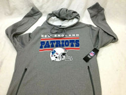 New England Patriots Wicking Retro Logo Hoodie Hooded Sweatshirt Mens XLarge