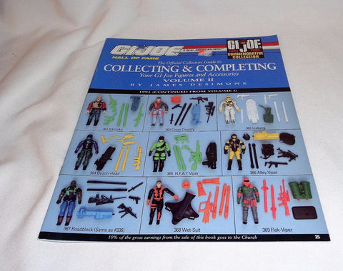 "Gi Joe ARAH Collectors Guide Book for 3 3/4"" Figures 12 Inch Doll James DeSimone"