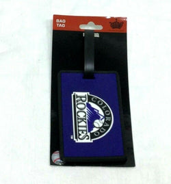 MLB Colorado Rockies Luggage Tag Travel Bag ID Golf Tag FREESHIP