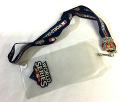2009 World Series Ticket Lanyard Pin New York Yankees Philadelphia Phillies BLUE