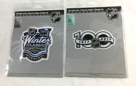 2017 NHL 100th Anniversary Centennial 2016 Winter Classic Jersey Patch Lot Set