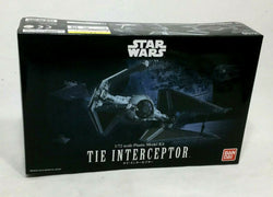 NEW Bandai Star Wars ESB ROTJ Imperial Tie Interceptor Plastic Model Kit Sealed