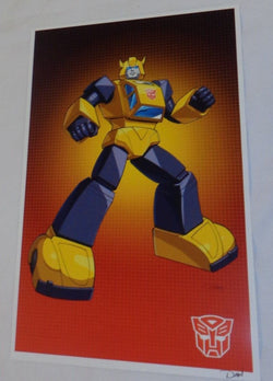 G1 Transformers Autobot Bumblebee Poster 11x17 Box Art Grid FREESHIPPING