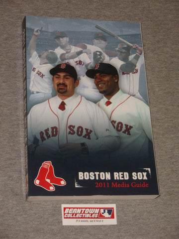 2011 Official MLB Boston Red Sox Media Guide Gonzalez Crawford Cover FREESHIP