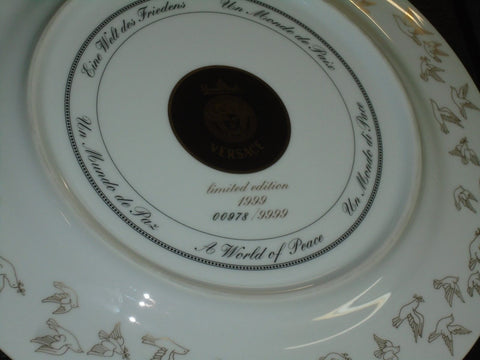 "NEW Rosenthal Versace 1999 World of Peace Service Plate Charger 12"" 30cm FREESHP"