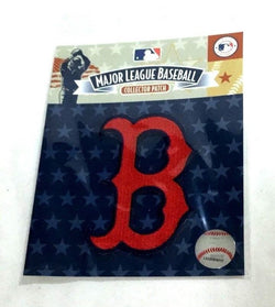"MLB Official Boston Red Sox ""B"" Vintage 1950s Logo Jersey Patch Fenway FREESHIP"