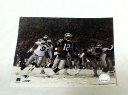 Vintage New England Patriot Tom Brady Snow Game Picture Photo 8x10 FREESHIP