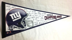 2007 Superbowl 42 World Champions New York Giants Pennant Team Roster Signature