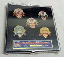 2000 Baseball Hall of Fame Induction Fisk Perez Sparky Red Sox Reds 5 Pin Set