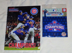 RARE 2016 World Series Champions Chicago Cubs Jersey Patch Parade Program Lot