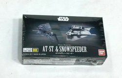 NEW Bandai Star Wars ESB Hoth Battle AT-ST & Snow Speeder Plastic Model Kit #008