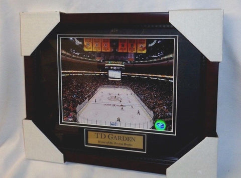 Boston Bruins Banners Retired Numbers Garden Ice Matted Framed Picture 13x16