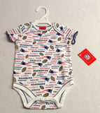 Official New England Patriots Baby Kids One - sie Shirt Size 6 to 9 Months White