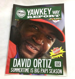July 2013 Yawkey Way Report Red Sox Program Magazine David Ortiz Big Papi Cover