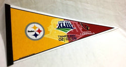 2008 Superbowl 43 Duel Pennant Arizona Cardinals Pittsburgh Steelers FREESHIP