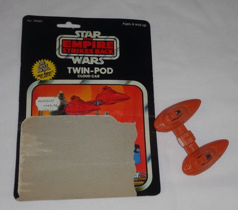 RARE 1980 Vintage Star Wars ESB Bespin Cloud Car Diecast Cardback FREESHIP