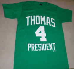 Boston Isaiah Thomas for President T Shirt Size Large Celtics Garden FREESHIP
