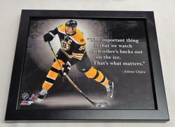 NHL TD Garden Boston Bruins Zdeno Chara ProQuotes Framed Picture 8x10 FREESHIP