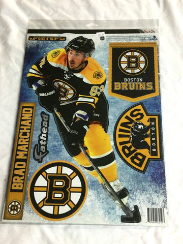 Fathead 17 Inch Sticker Wall Decal Set Boston Bruins Brad Marchand FREESHIP